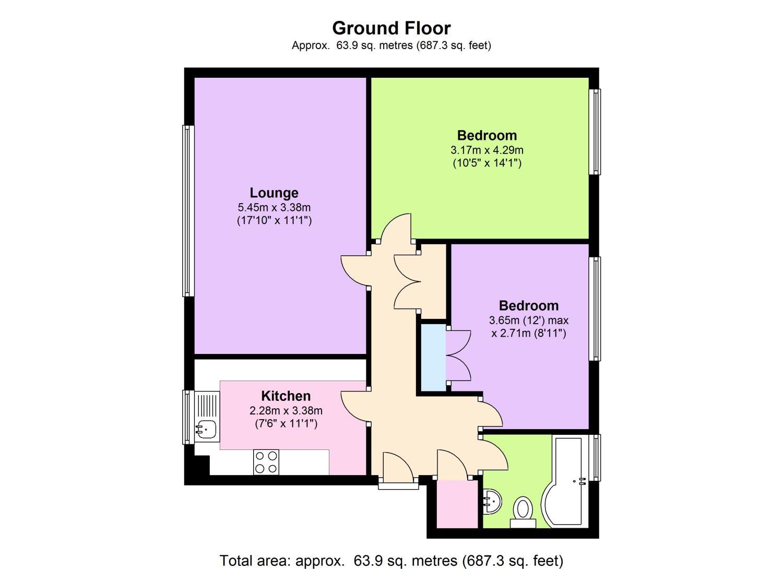 2 bedroom property for sale in hatton court lubbock road for 11 brunel crt floor plan