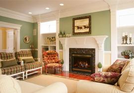 A stylish, modern living room