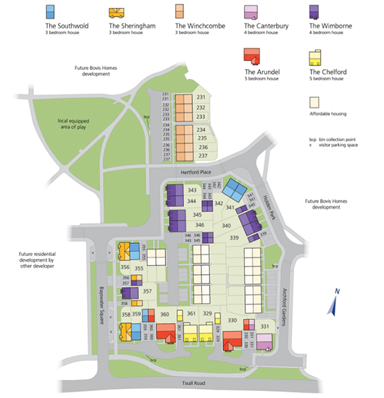 st. mary's gate development map