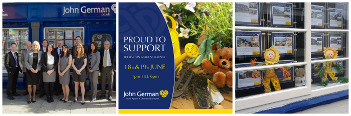 John German Estate Agents Sponsors Barton Gardens Festival 2016