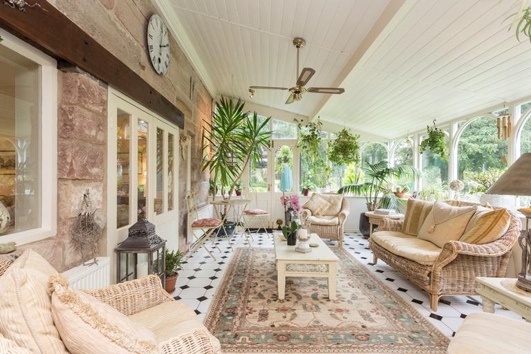 Adam bede house Ellastone garden room