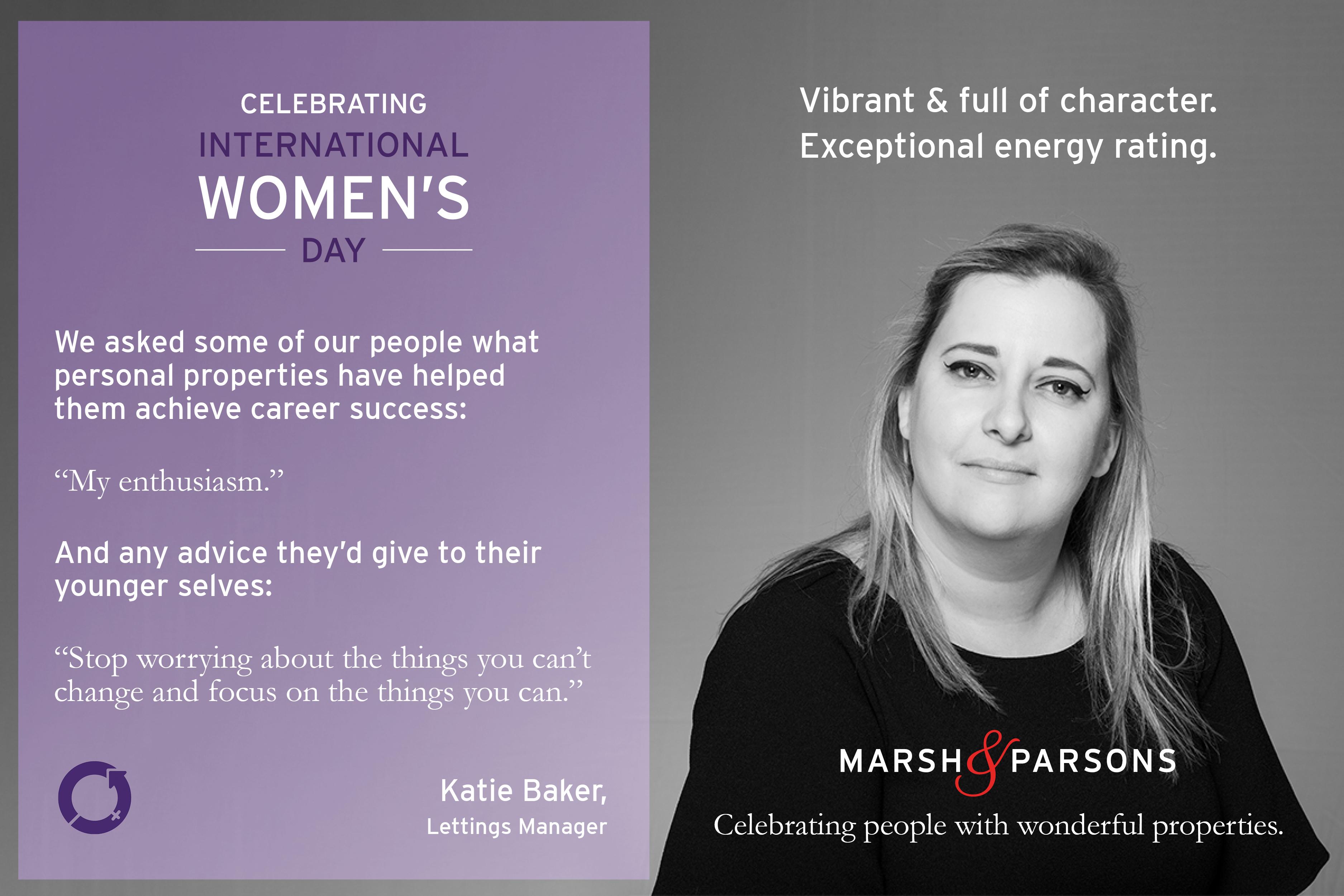 Katie Baker, International Women's Day