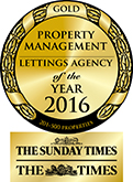 Property Management Lettings Agency of the Year GOLD award