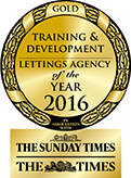Training & Development Lettings Agency of the Year GOLD award