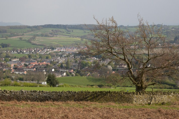 A view of Kington from the Golf Club