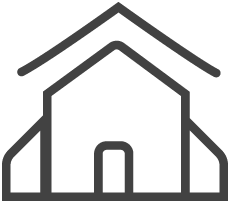 House icon for roofing
