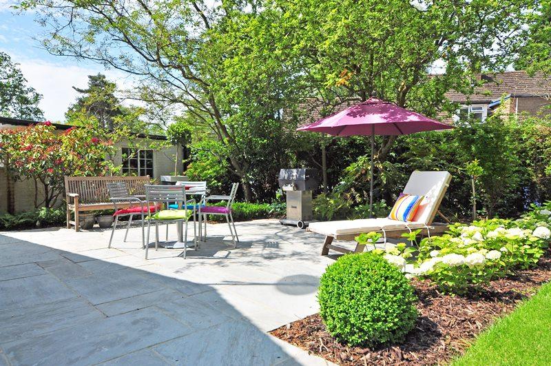 Hosting area in garden